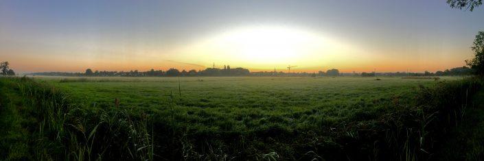 2016 08 30 Wedel Wedeler Marsch Sonnenaufgang Panorama